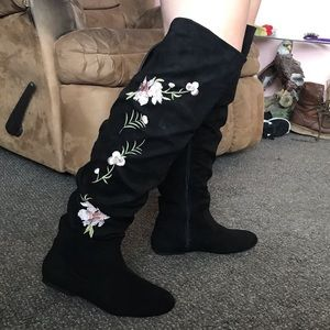 JustFab boots. Worn once